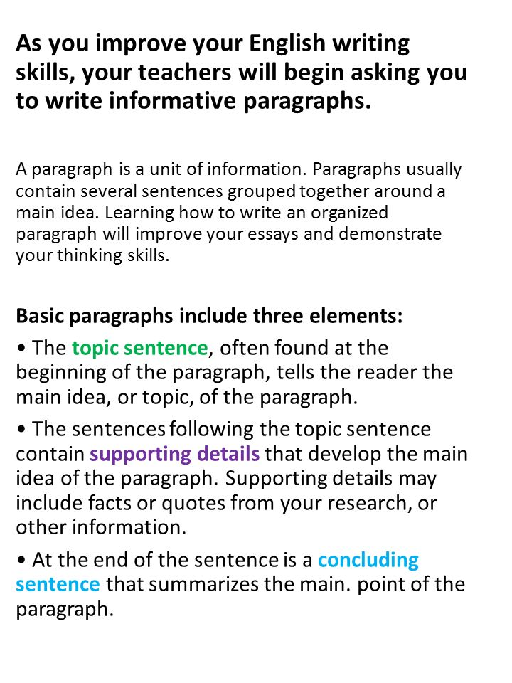 Informative Paragraph Writing ppt video online download
