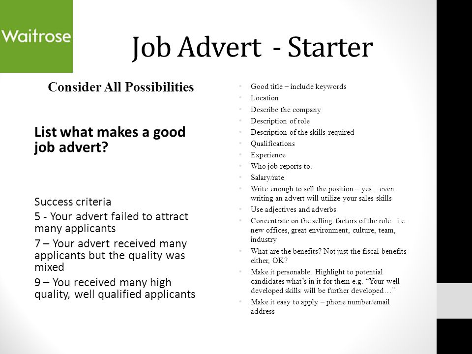 People in Business AO2, AO3 and A04 - ppt download - Good Job Qualifications
