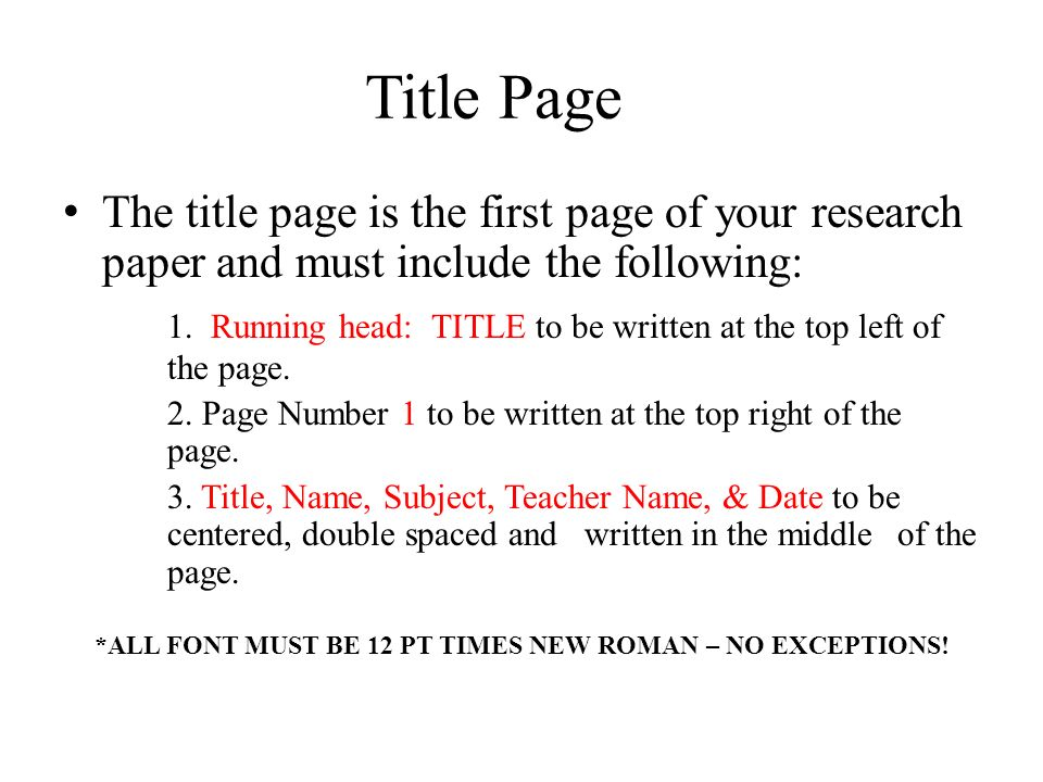 Apa format of cover page of a research paper Term paper Academic