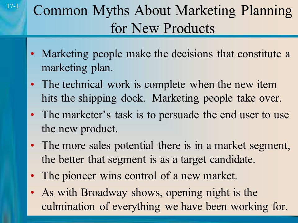 Common Myths About Marketing Planning for New Products - ppt download