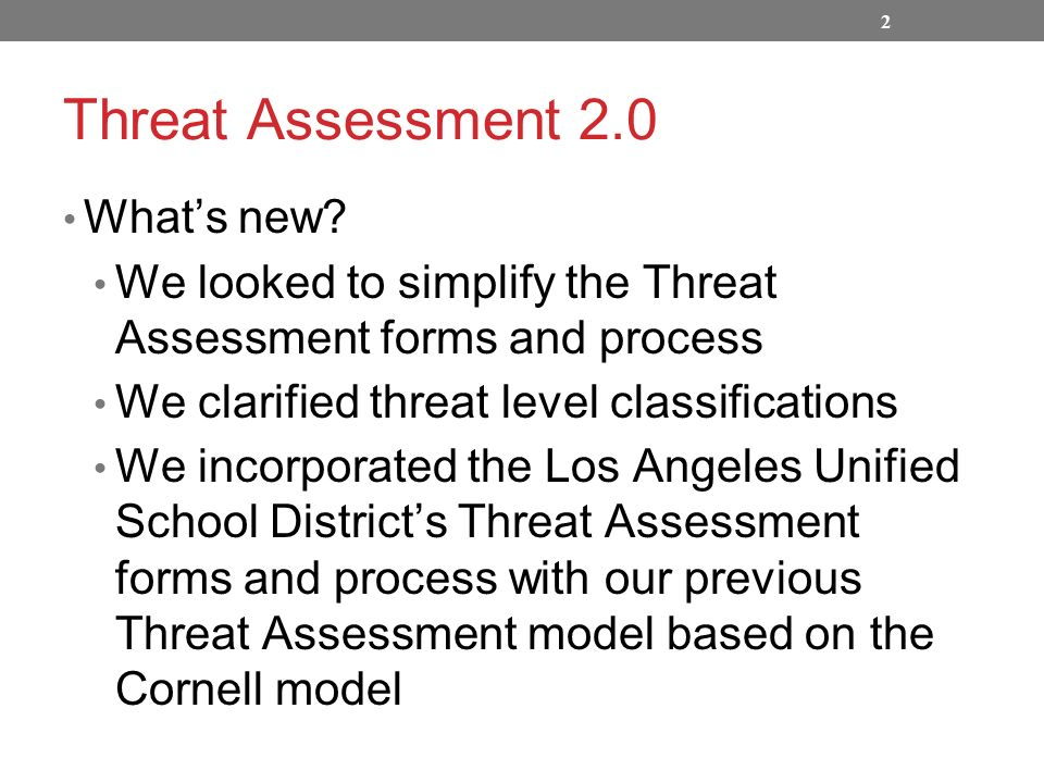 THREAT ASSESSMENT PROTOCOL - ppt video online download