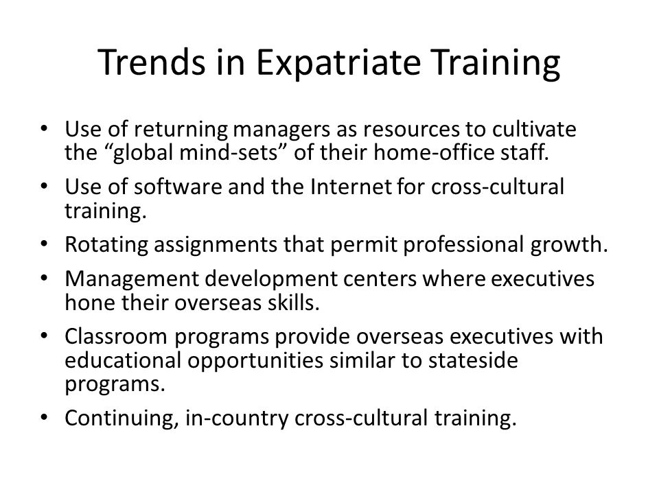 Selection of Expatriate Managers - ppt video online download