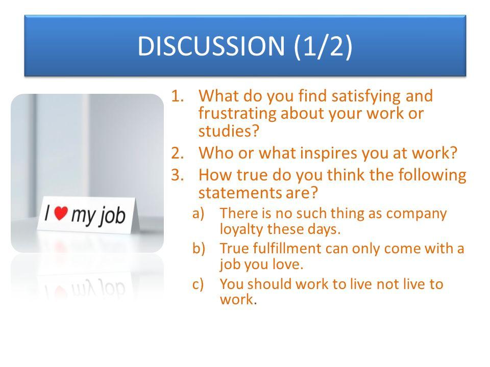 UNIT 5 JOB SATISFACTION - ppt video online download