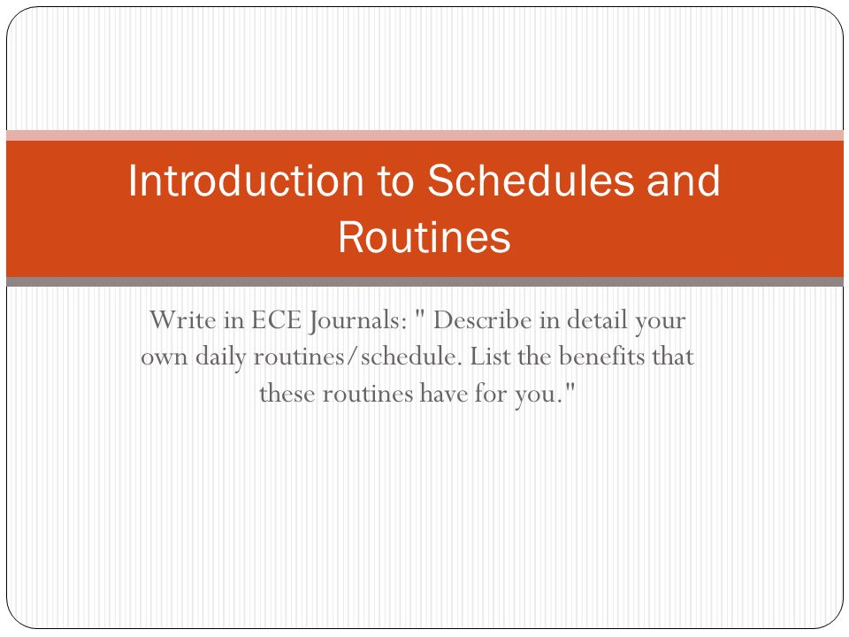Introduction to Schedules and Routines - ppt video online download