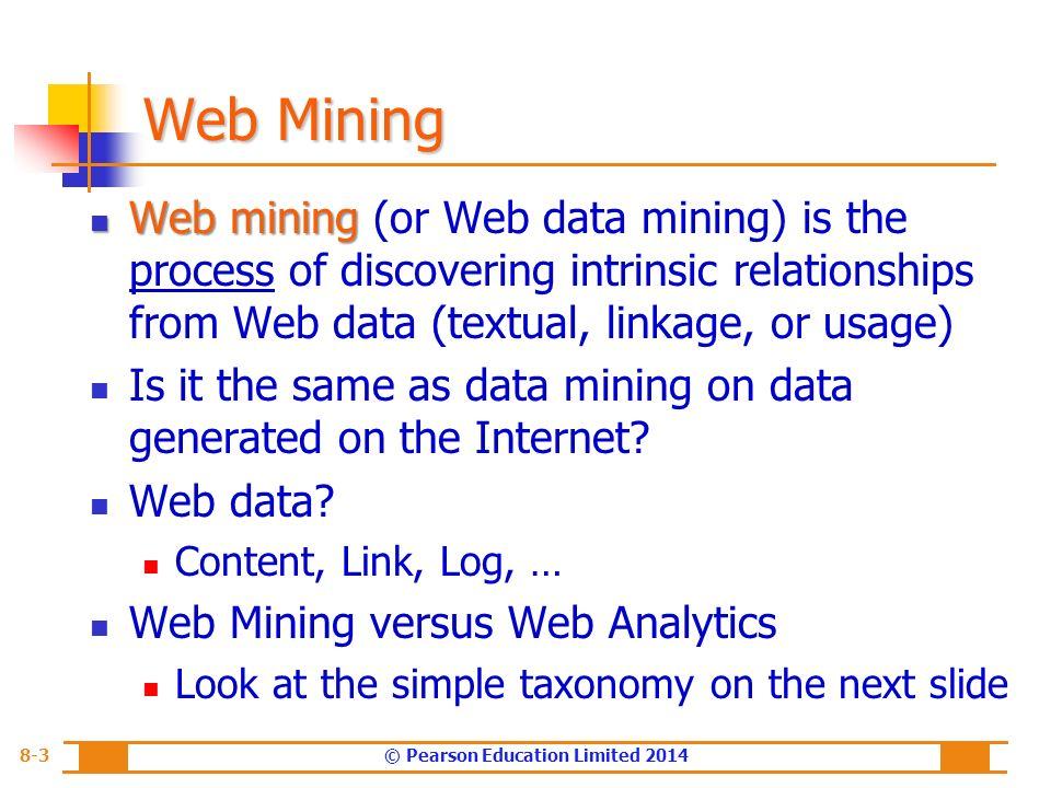 Chapter 8 Web Analytics, Web Mining, and Social Analytics - ppt