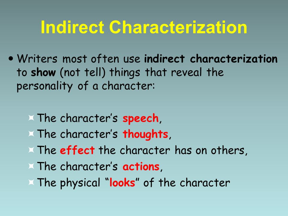 Characterization Indirect and Direct - ppt download