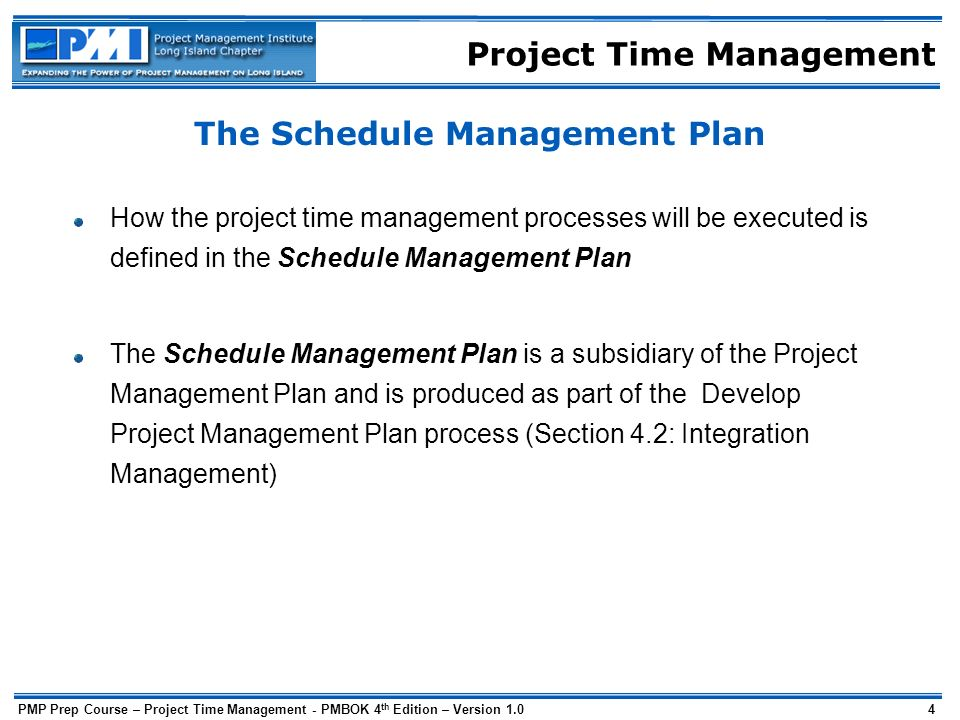 Project Time Management - ppt download - schedule management plan