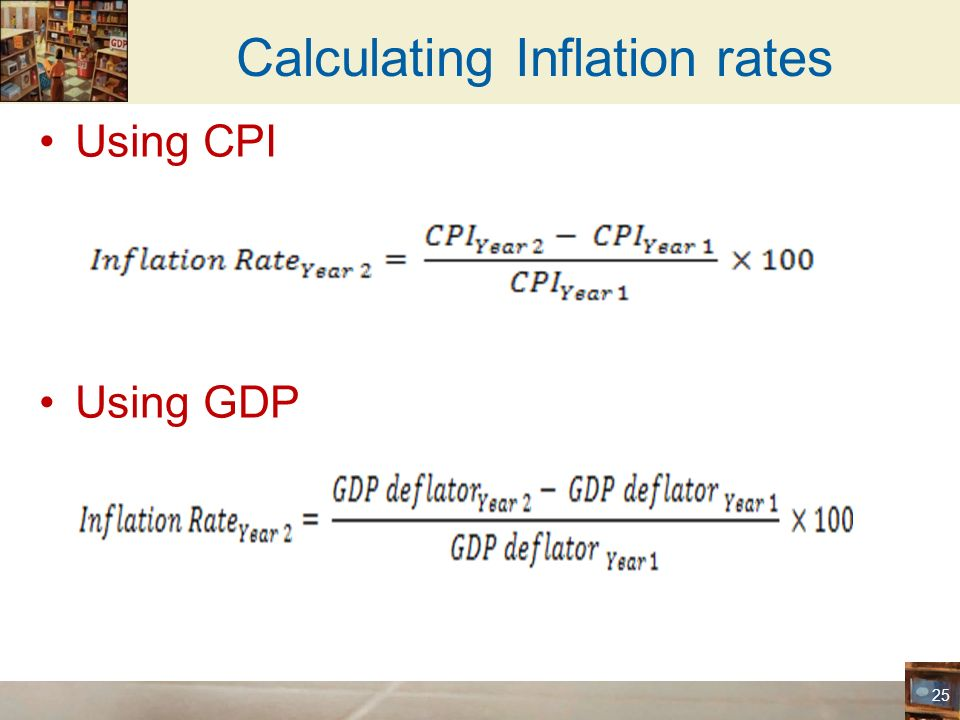 Gdp inflation calculator