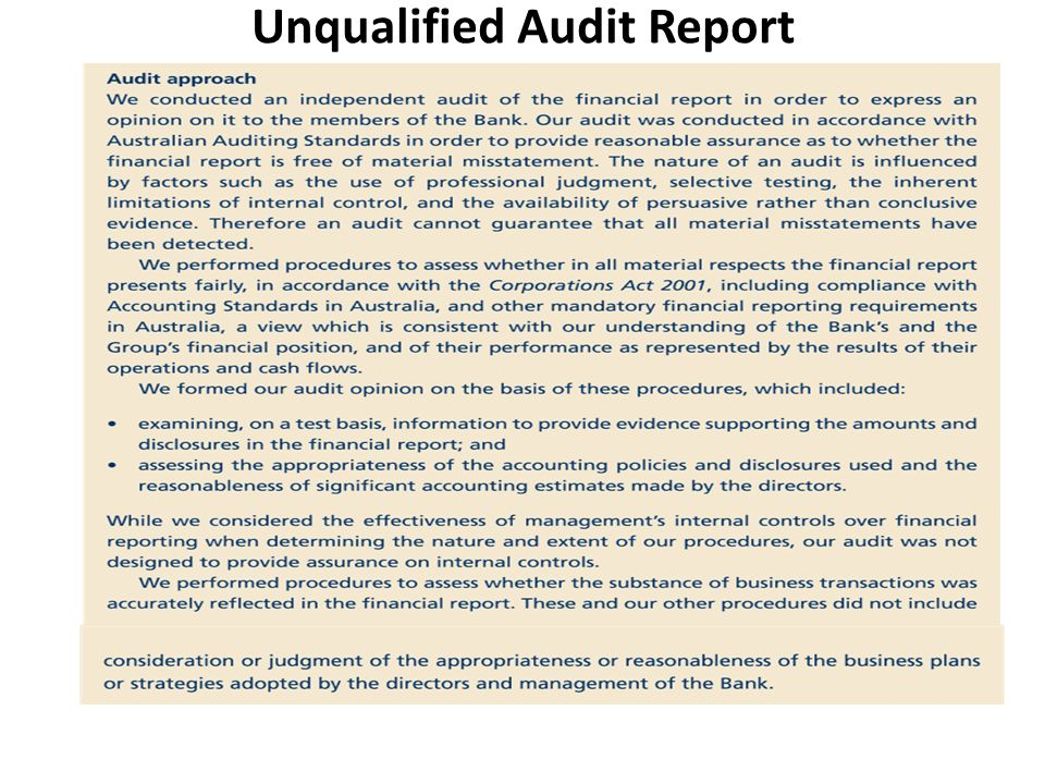 Materiality And Audit Reporting Audit Report Audit Opinion - ppt