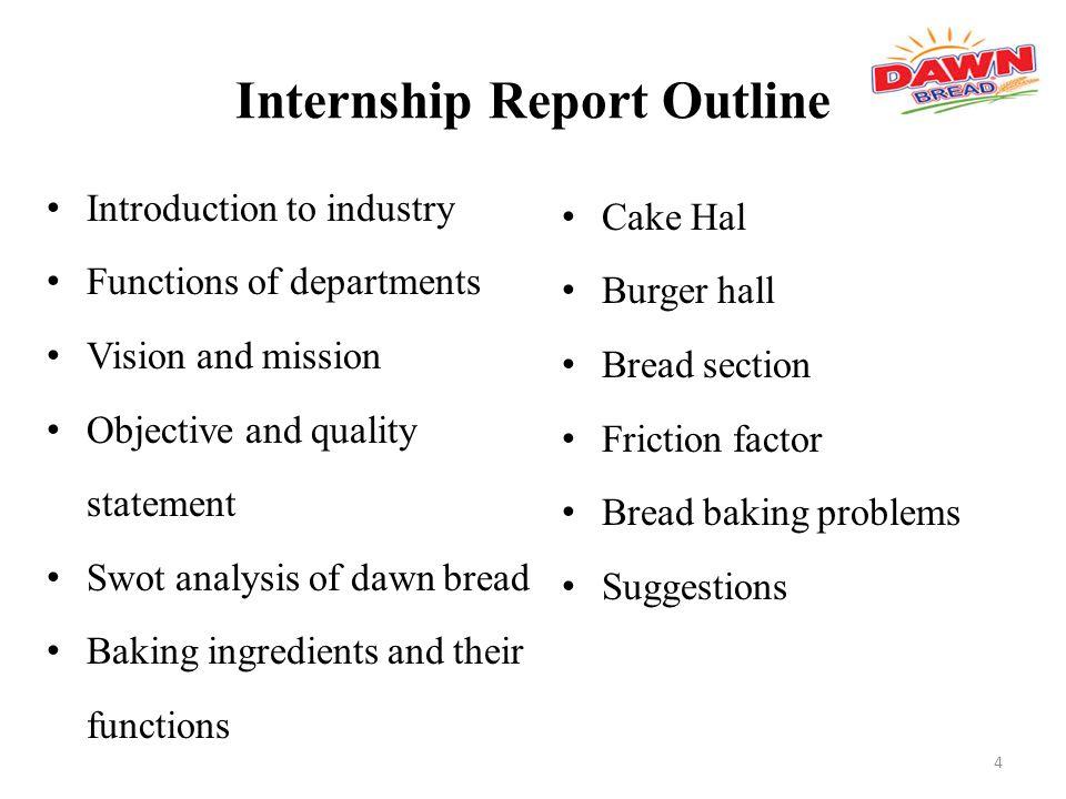 Internship Report Dawn Bread - ppt video online download