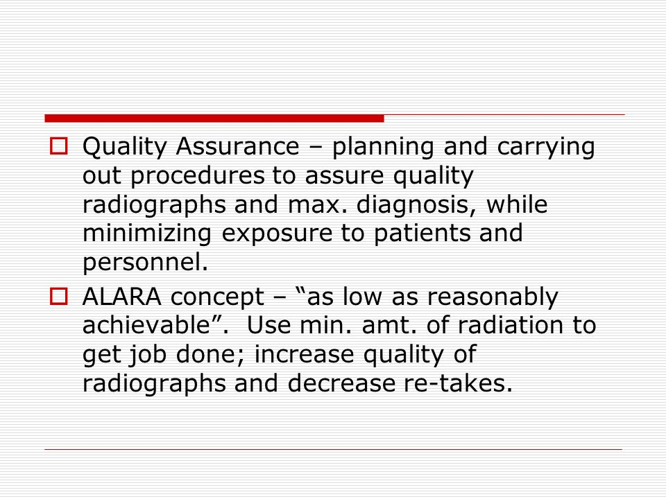 Quality Assurance in Dental Radiography - ppt video online download