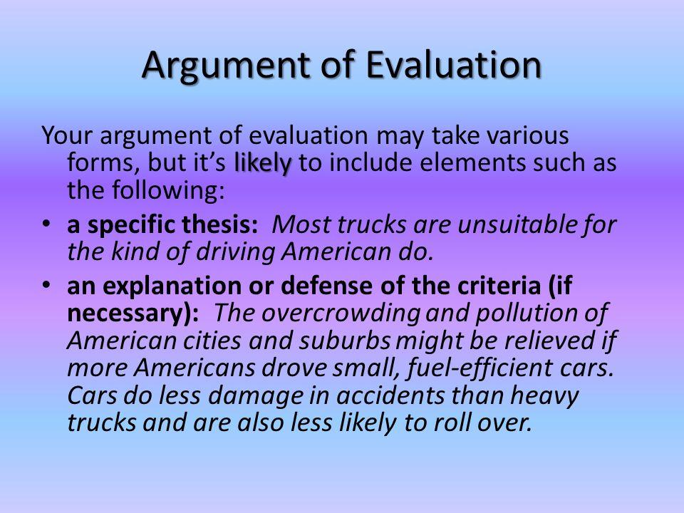 evaluation argument - Kubrakubkireklamowe