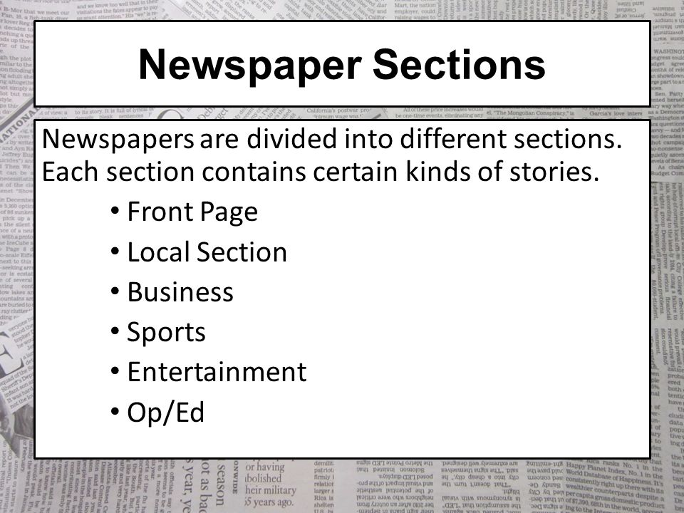 The Anatomy of a Newspaper - ppt video online download