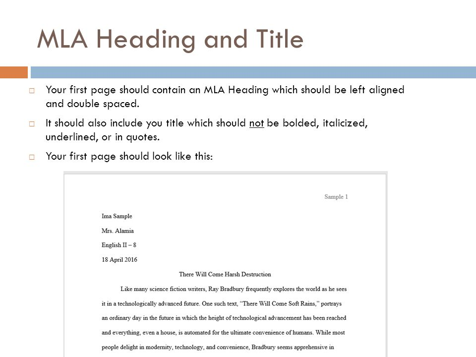 MLA FORMATTING and CITATION - ppt video online download