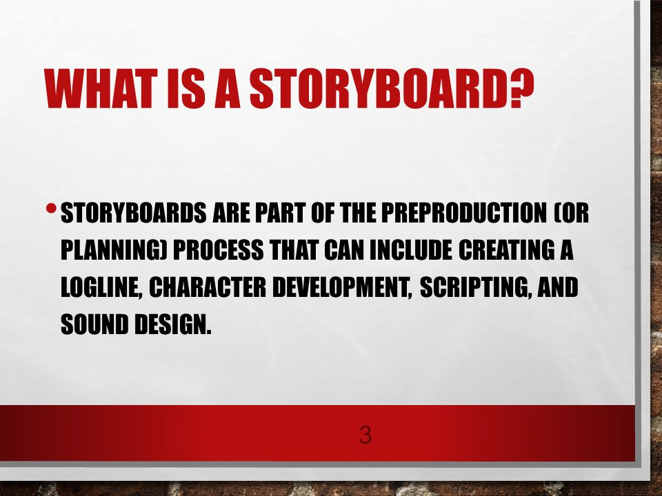 STORYBOARDS Trade  Industrial Education - ppt download