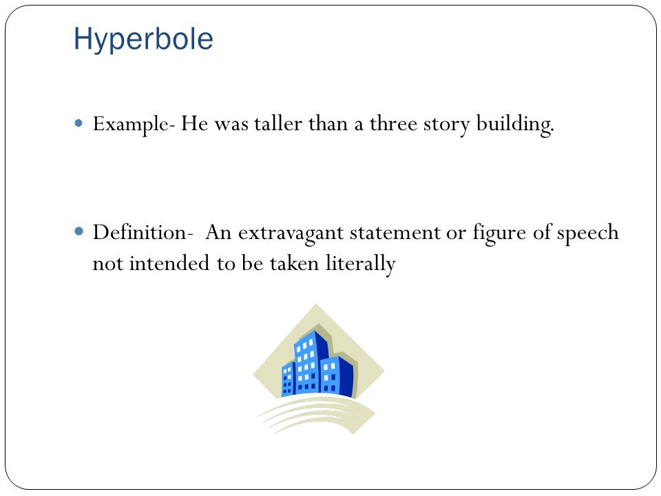 A Example Of Hyperbole Image collections - example of resume for student