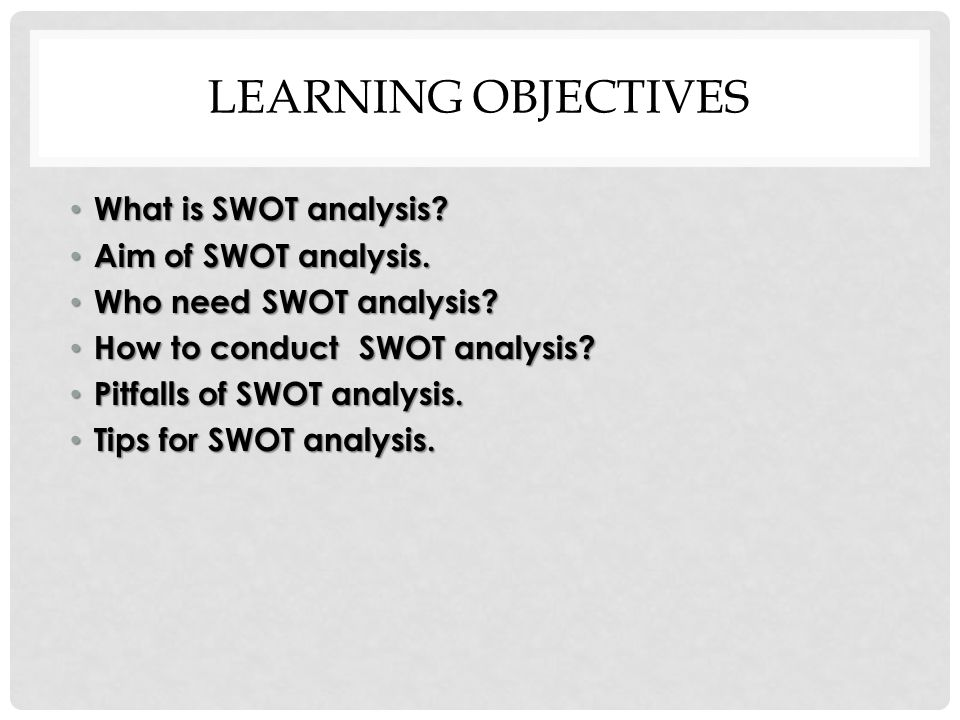 SWOT ANALYSIS - ppt video online download