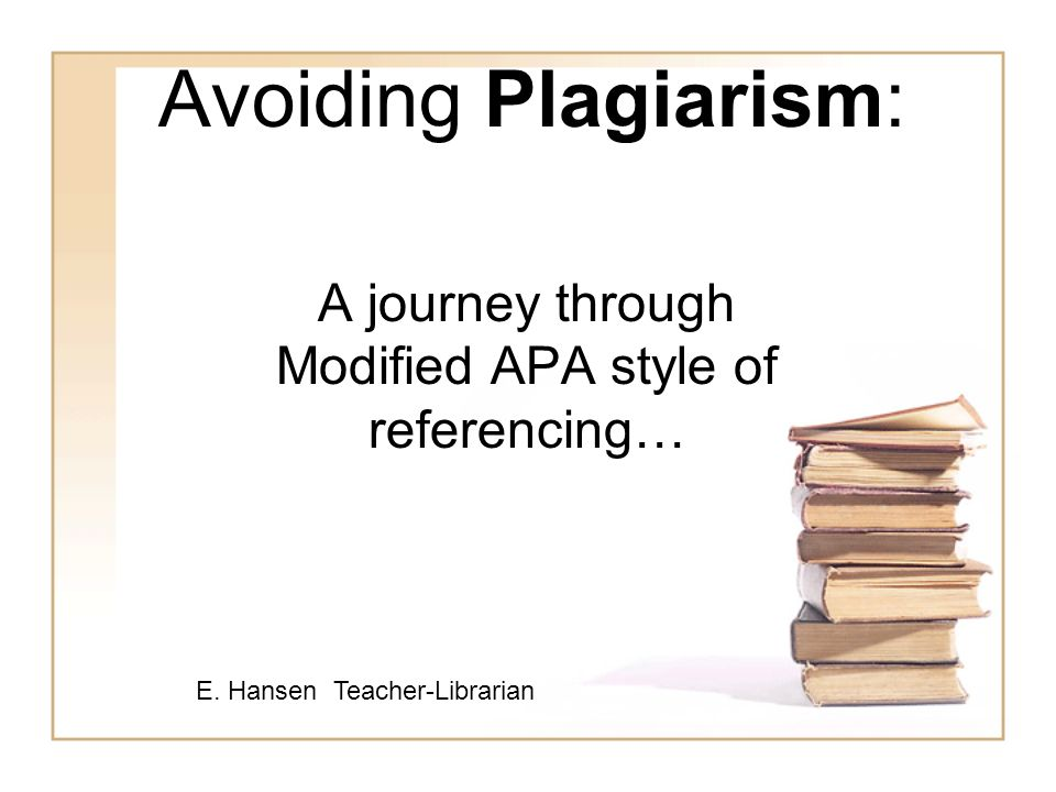 A journey through Modified APA style of referencing\u2026 - ppt video