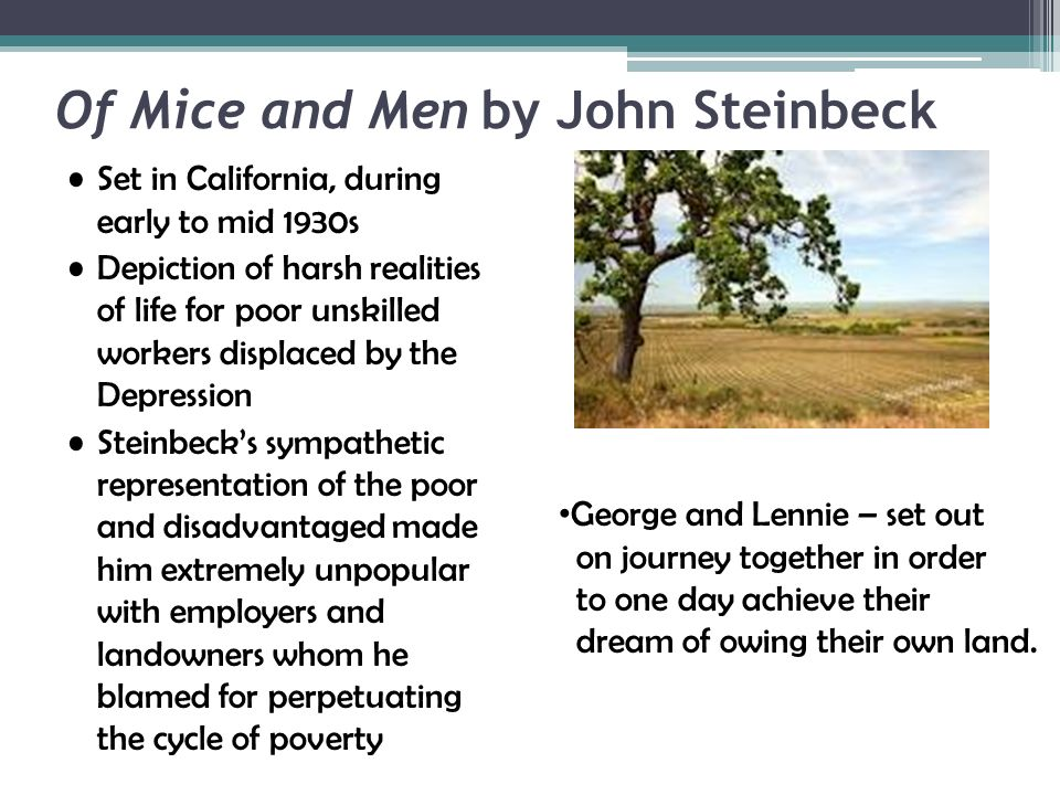Of Mice and Men  A Raisin in the Sun - ppt download