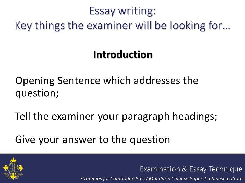 Strategies for Teaching and Assessing Pre-U Mandarin Chinese Paper 4