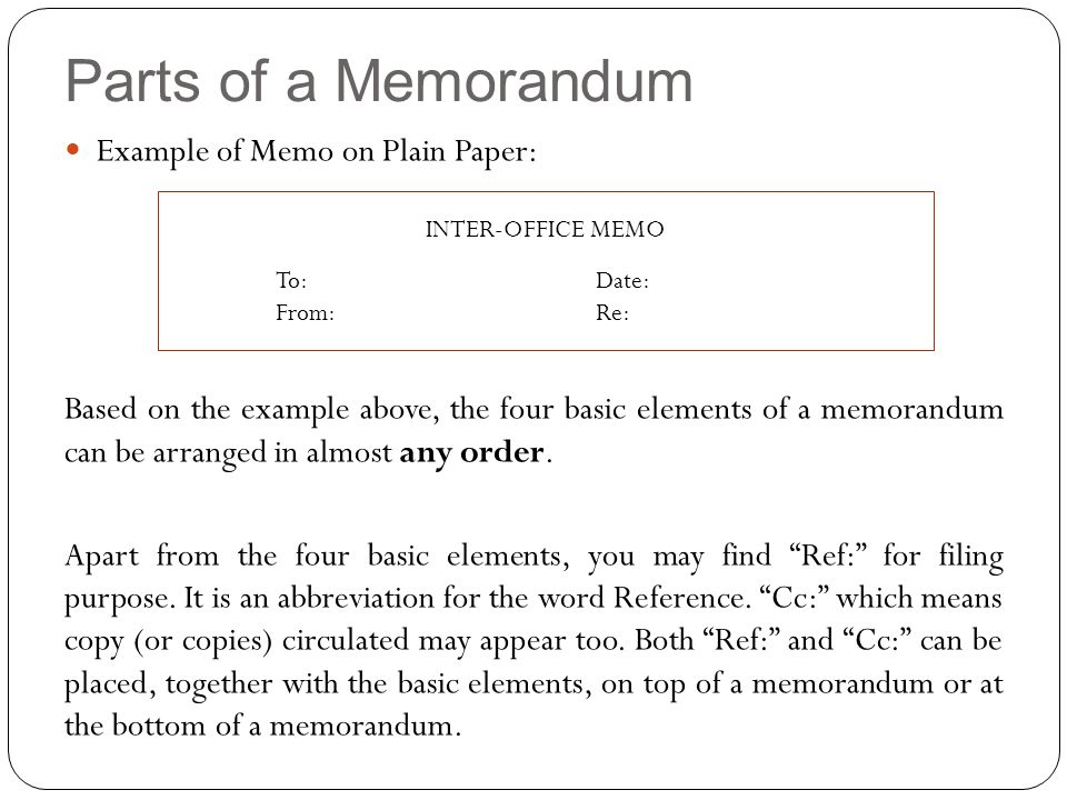 MEMORANDUM - ppt video online download - office memos examples