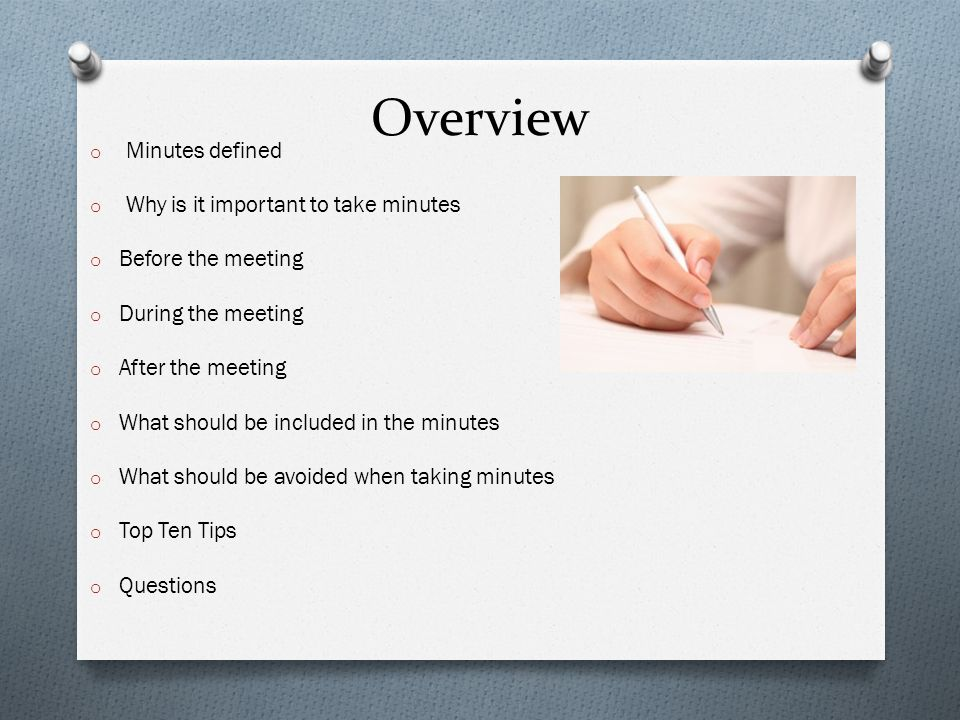 Meeting Minutes Workshop - ppt video online download