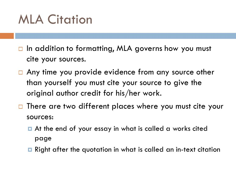 MLA FORMATTING and CITATION - ppt video online download