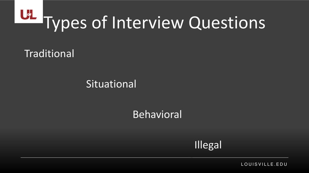 Types of Interview Questions - ppt download