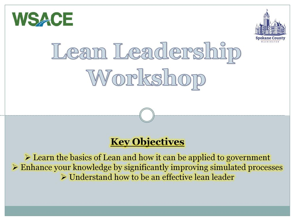 Lean Leadership Lean Leadership Workshop Ppt Download