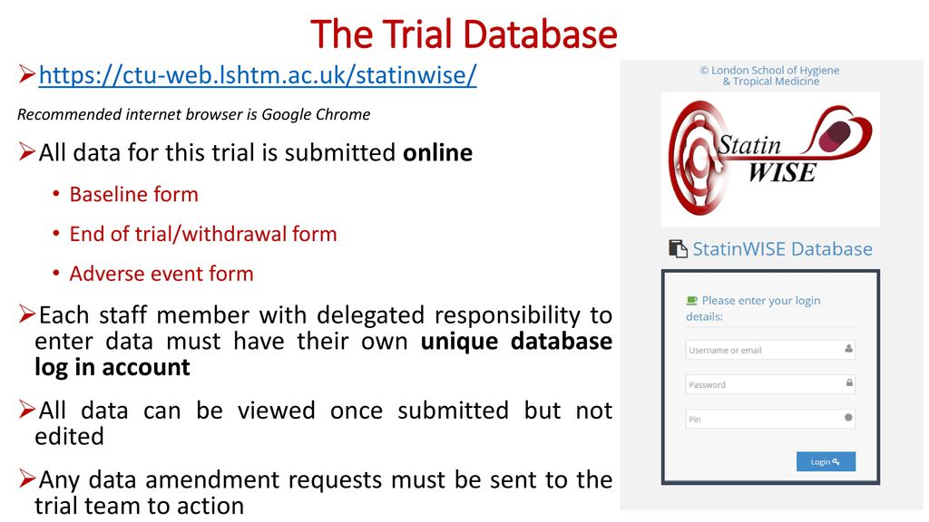 THE TRIAL DATABASE AND ONLINE DATA QUERIES - ppt download