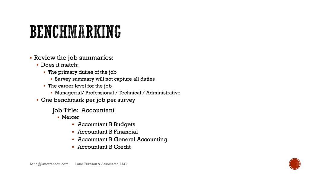 DO IT YOURSELF COMPENSATION - ppt video online download - Accounting Job Titles