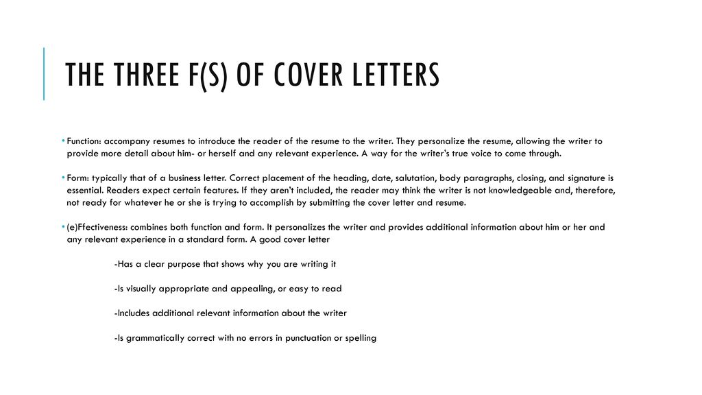 Resumés  Cover Letters - ppt download - what is the purpose of a cover letter