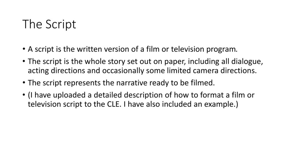 Pre Production in Film and Television - ppt download
