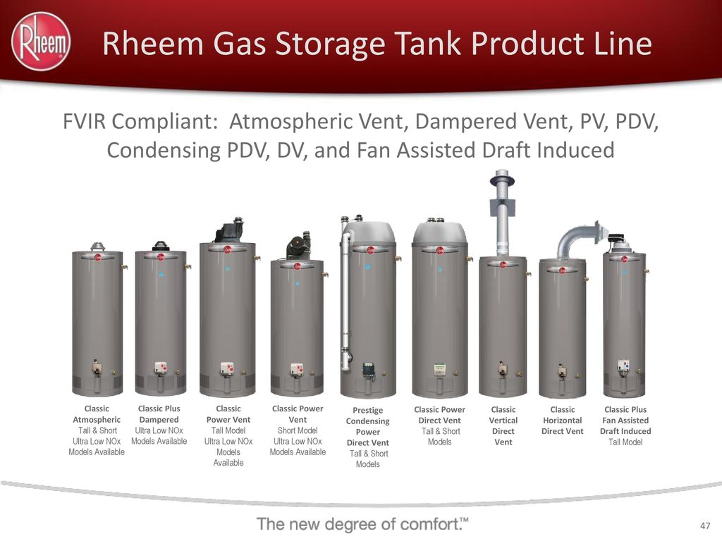 Rheem Power Vent Rheem Residential Water Heating Professional Product Line Ppt