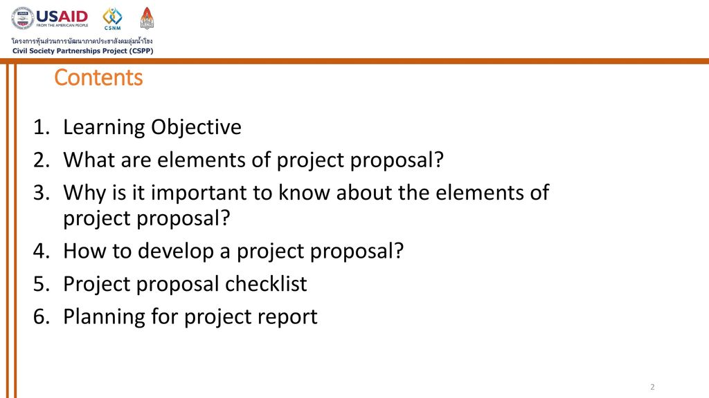 Session IX Elements of Project Proposal - ppt download
