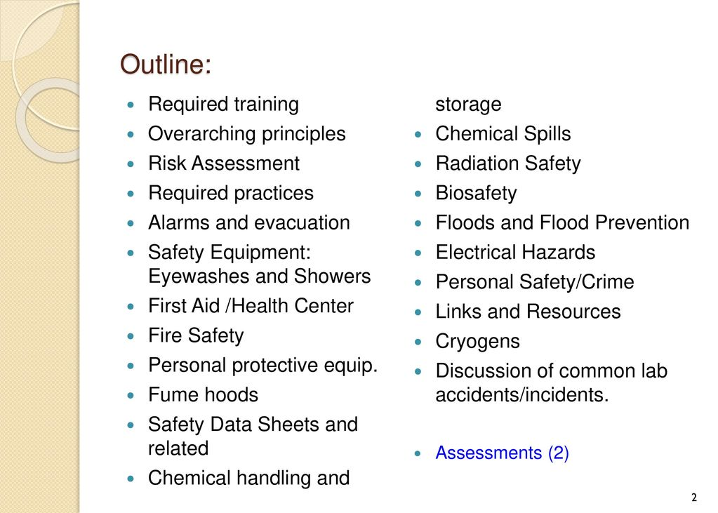 UNL Chemistry Safety Training - ppt download