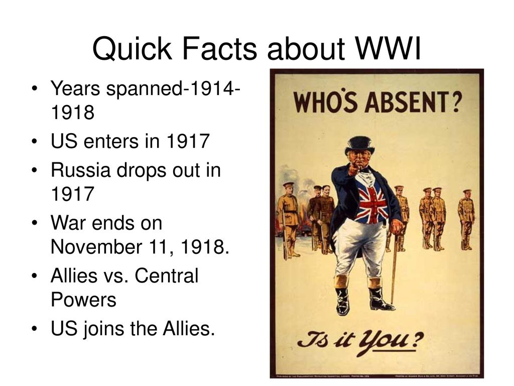 Facts About Wwi Facts About Wwi