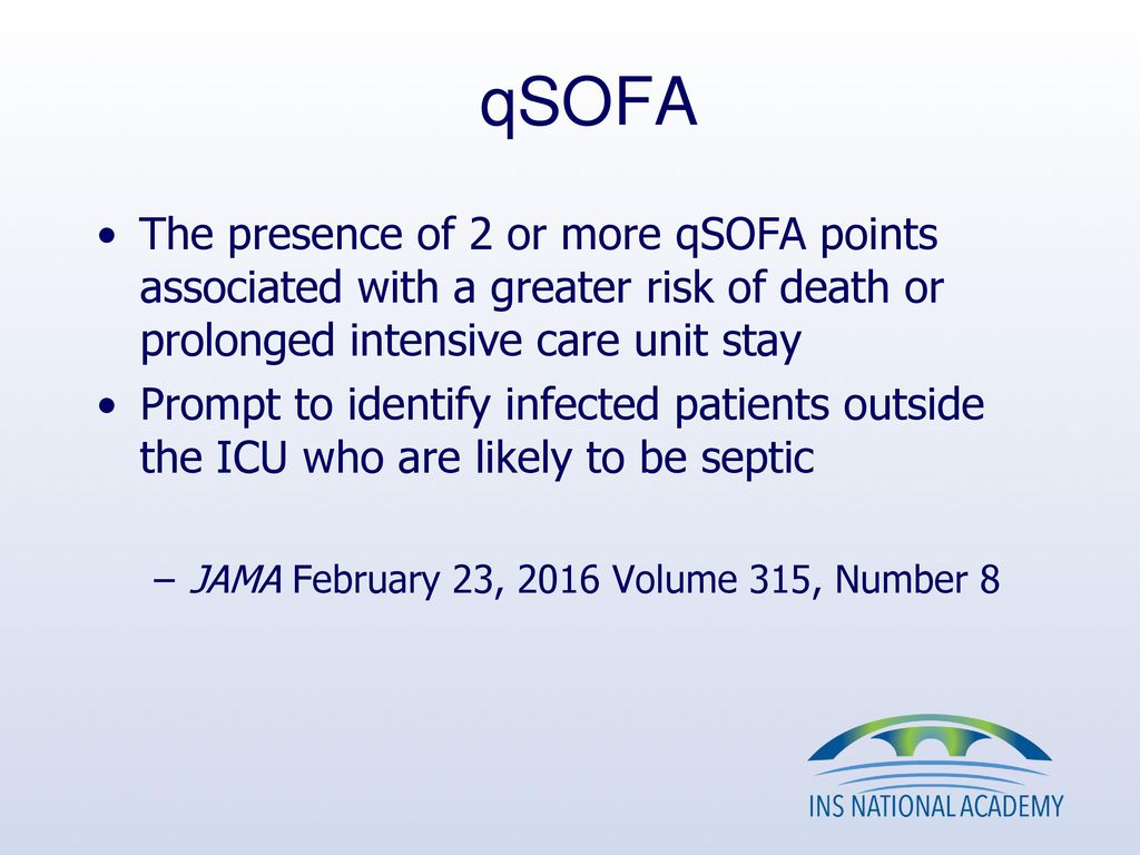 Qsofa Infection Qsofa
