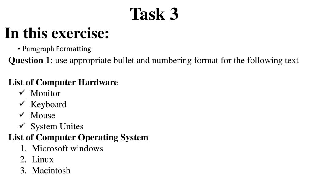 Microsoft Word Exercise - ppt download