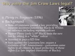 Small Of Why Was Homer Plessy Arrested
