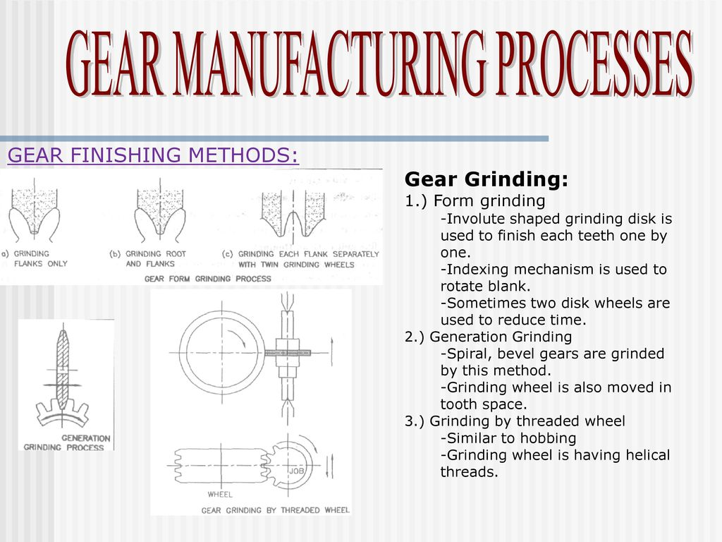 Manufacturing Methods Gear Manufacturing Processes Ppt Download