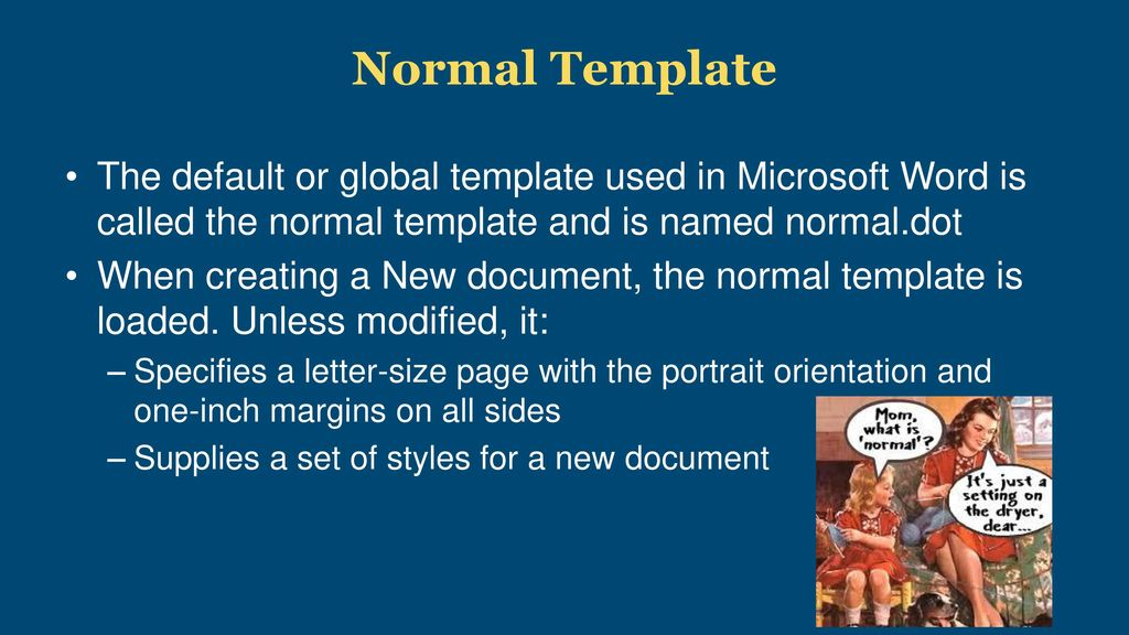 Ms Word Default Template At A Glance Word Processors Hotdocs
