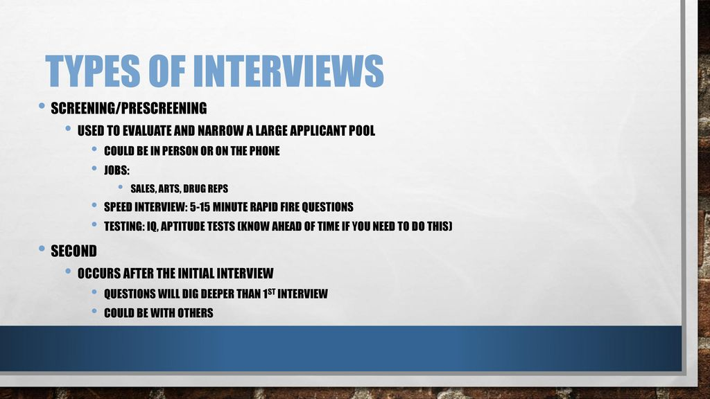 Successful Interviews - ppt download