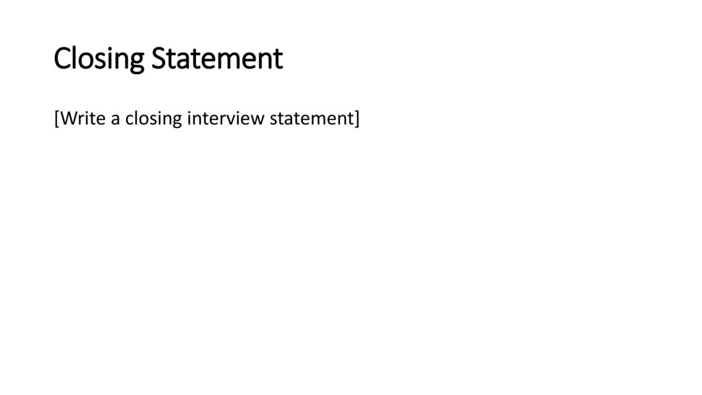 Interview Preparation Project - ppt download