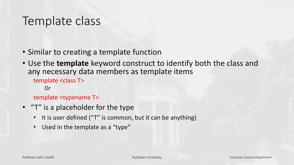 Templates C++ template - ppt download