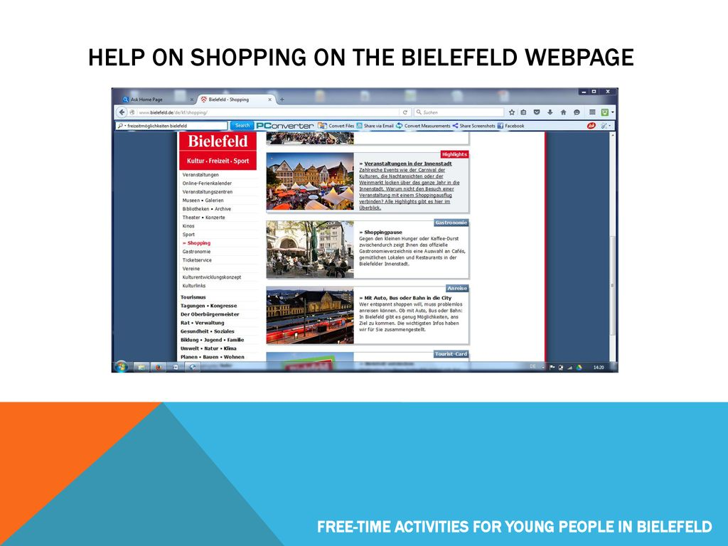 Bielefeld Shopping Offers Of Learning Support And Educational Help In Bielefeld Ppt