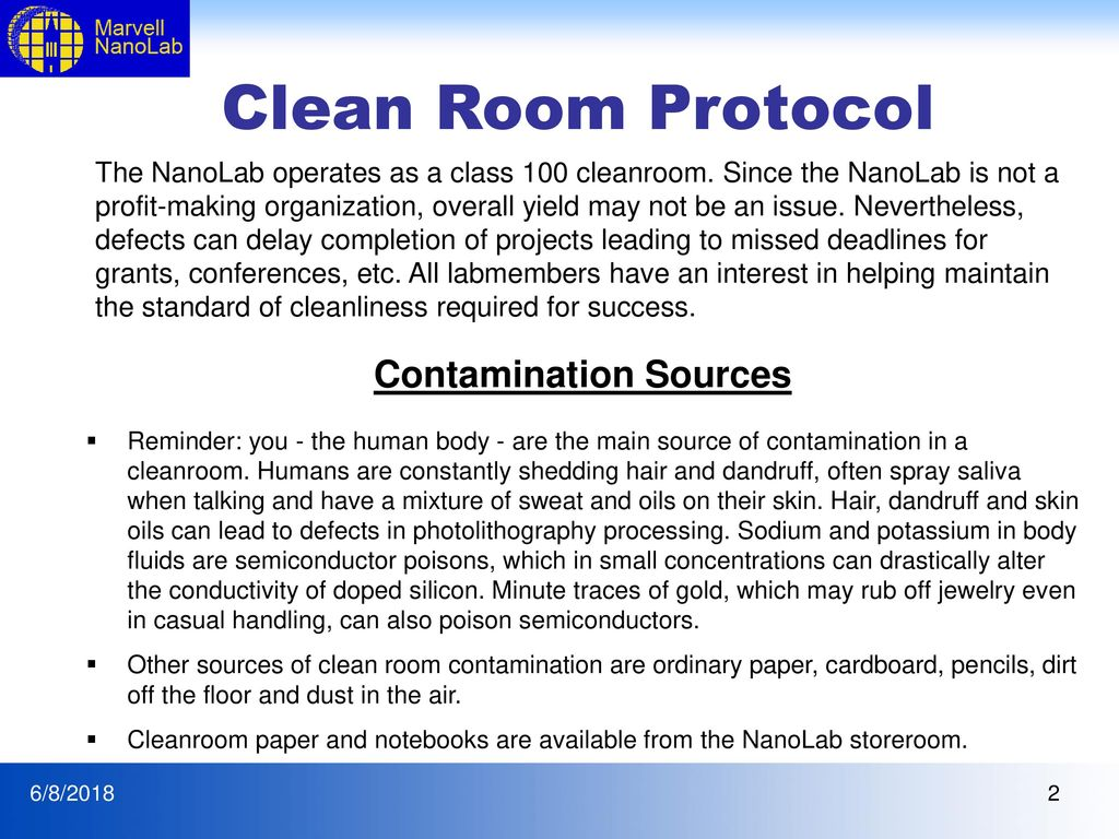 Clean Room Protocol And Lab Etiquette Updated 4 19 Ppt