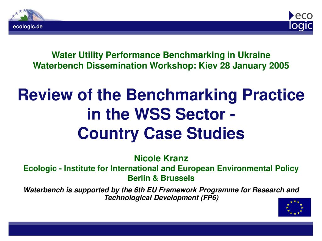 Wss Berlin Review Of The Benchmarking Practice In The Wss Sector Ppt Download