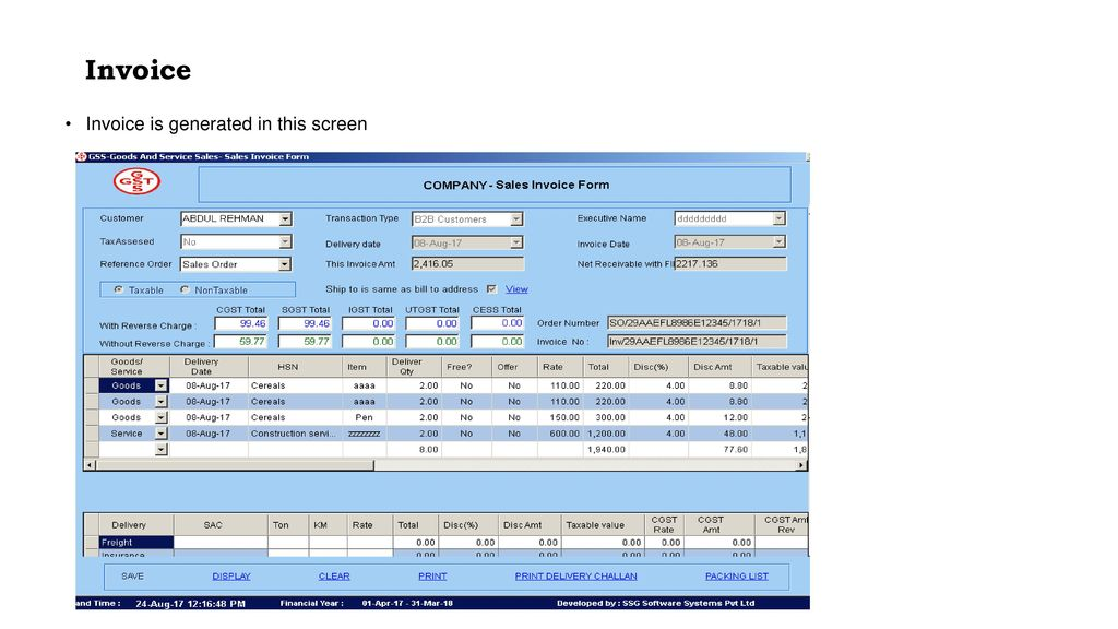 GST-Compliant GOODS and SERVICES SALES Software - ppt download