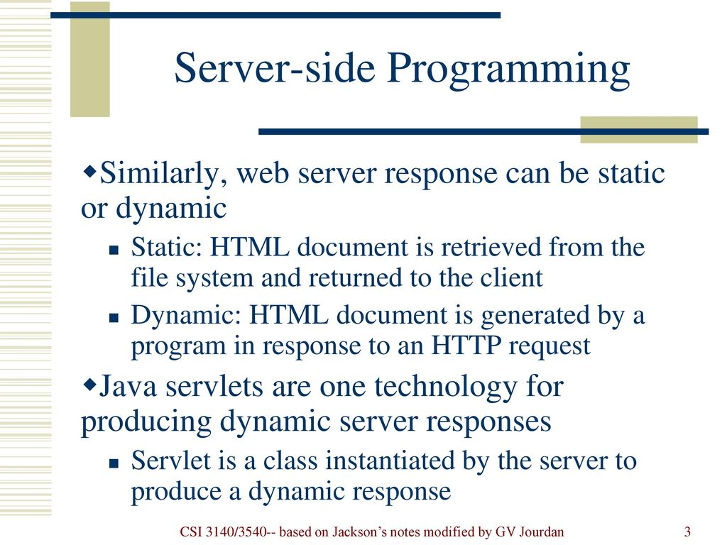 Server Side Programming Java Servlets Ppt Download - File Server Java Program